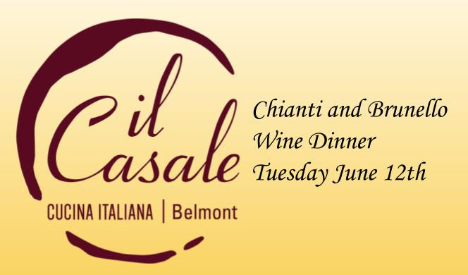 Save the Date!           il Casale and Cuvée Chianti Wine Dinner image
