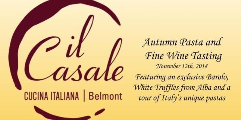 Il Casale Pasta and Wine Dinner Event image